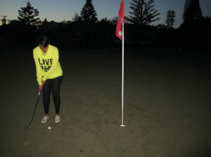 Night time Golf Lesson