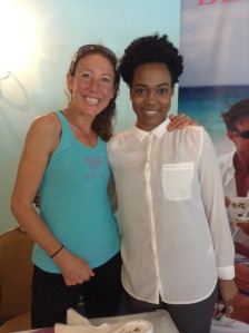Chrissie Wellington - 4 Time Ironman World Champion (an myself)