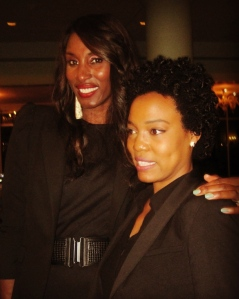 Guest Speaker Lisa Leslie and myself at the Banquet.